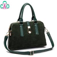 High quality leather handbags fashion leisure shoulder grind arenaceous cowhide women messenger bag lady evening bag