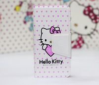 Free shipping New  Cute Hello Kitty Leather Wallet Pouch Case Cover skin for iPhone 5 5G