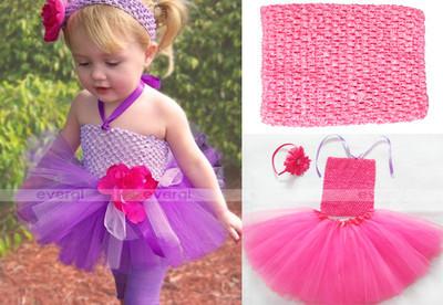 Hot Crochet Tutu Top Tube Tops tank 10 Colors U Pick Newborn Toddler Baby Girl Tutus(China (Mainland))
