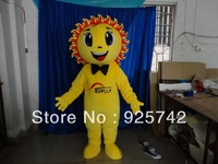 Adult SizeYellow sun people Mascot Costume Fancy Dress adult size Cartoon  custom Free Shipping
