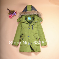 2013 New Hot Coat long Design Male Child Down Coat Thick Warm
