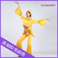 Long-sleeve women's dance clothes clothing chinese minority clothing 025