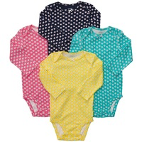 Retail 4pcs, Original Carter's Baby Girls Cute Butterfly & Elephant Long Sleeve Bodysuit, freeshipping