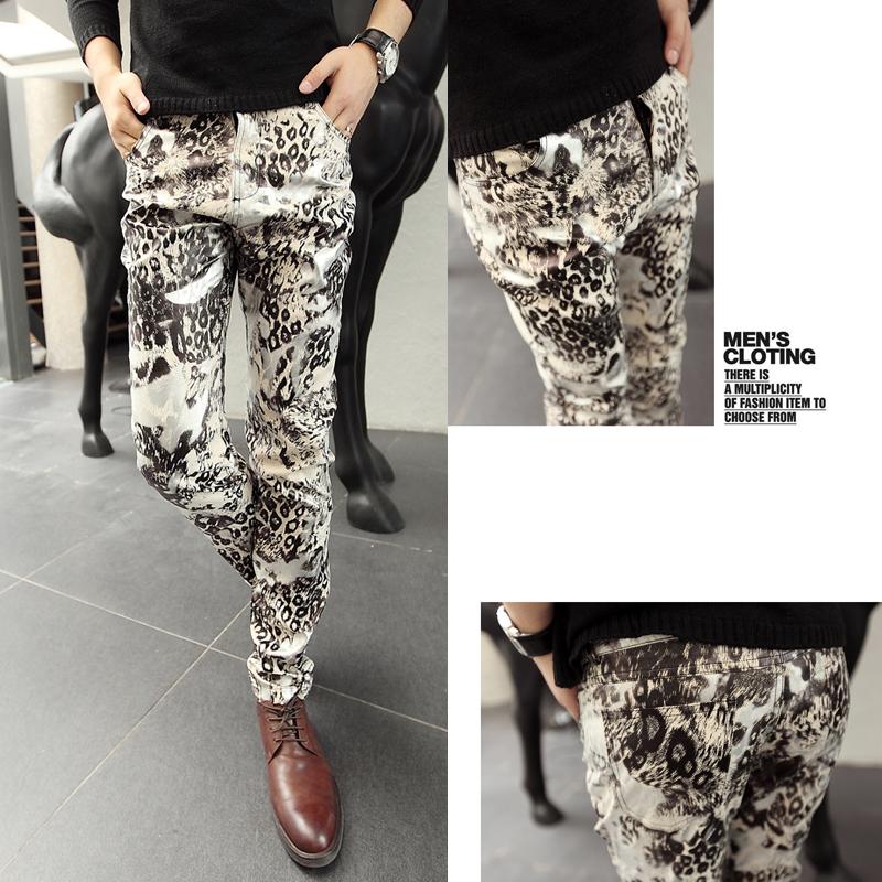 Flower Printed Pants Pants Male Flower Trousers