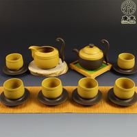 Yixing purple clay tea set handmade tea zhu ni 14 piece set tf-430