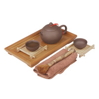 Tea pot yixing kung fu tea set bamboo tea tray pot cup small set