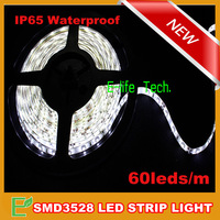 Free Shipping! 5m/piece SMD3528 Flexible Waterproof Led Strip Tape Light 5m 300leds Cool White/Warm White/Red/Green/Blue/Yellow