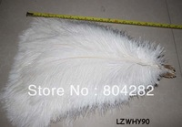 EMS Free Shipping 50-55cm 50pcs/lot Wedding Centerpiece Bleached White Ostrich Drab Feathers