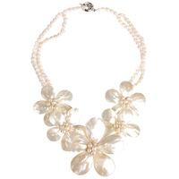 free shipping For nec  klace female short design pearl shell necklace fashion