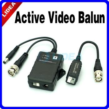 UTP Network Active Power Video Balun Transmitter CAT5 to Camera CCTV BNC EMS B-21