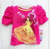 2013 New Short Sleeve girls Princess T-shirts baby carton tees children's Cotton tees *(5pcs/lot)Drop Shipping