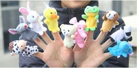Vip link-->DHL Free+2000pcs/lot Baby Plush Toy Finger Puppets Talking Props(10 animal group)