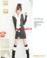 2013 Rabbit Fur scarfs ball 100% rabbit ful Soft hair Long style Gorgeous Scarves Winter Woman