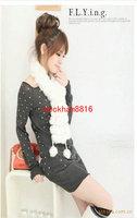 Wholesale - 10pcs Women's Fur Scarves 100% Fur Ball velvet Rabbit Long style Woman Winter 2013 white Scarves