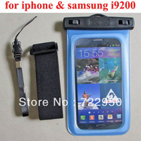 3 colors New arrival product 2013 Waterproof Case Armband Bag Pouch  For Samsung Galaxy Mega 6.3 i9200  With Retail Package