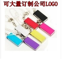 Small 4gu u disk metal rotary usb flash drive gift metal shell personality chain