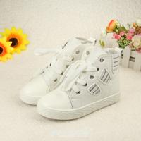 2014 autumn Female child denim canvas princess shoes children high single zipper shoes