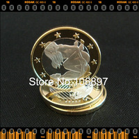 Type 11-NON-Magnetic wholesale Newest 40pcs/lot Sex Euro Toned coin silver and gold clad commemorative coin Free shipping