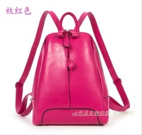 2013  New Arrived Genuine Leather Cowhide Backpack Fashion  Small Handbags Shoulder Bags Free Shipping