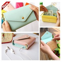 2013 New Fashion 7 Colors Envelope Wallet Case Purse Samsung Galaxy Iphone Phone Bags Free Shipping 0679