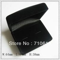 Free shipping (100pcs/lot) black velvet flocking Cufflink Box