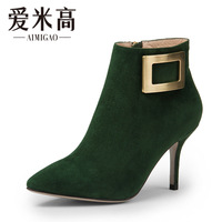 Aimigao boots female 2013 pointed toe high-heeled boots elegant fashion women's shoes