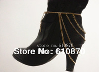 2013 New Fashion Gold Women Lady Heel Shoe Boots Ankle Chain Body NECKLACE Anklet Bracelet Foot Jewelry