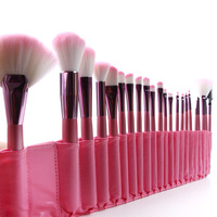 Wholesale Professional 1Set/lot 100% new 22 pcs/Set Cosmetic Makeup Pink Brush Set Make up Tools Brushes for makeup