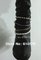 2013 New Winter Style Chunky Heel Shoe Boots Ankle Chain Body NECKLACE Anklet Bracelet Foot Pearl Beads Jewelry