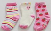 Min Order 5$ 3pair/lot cute floral pattern baby girl socks, sweet bear baby boys sock for 6-24 months New born baby,cotton socks