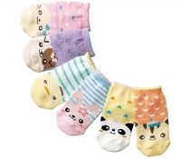Free Shipping 12Pairs/LOT Children Cute Cartoon Animal Short Socks, Cartoon Infant Baby Boy Girl Sock, Kids Socks Multicolor