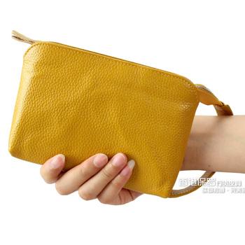 Fashion 2013 women's clutch women's handbag clutch bag women's genuine leather coin purse bag mobile phone bag free shipping