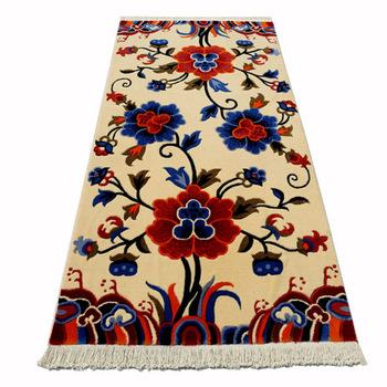 Wool handmade peony tibetan style blanket sofa bed corridor carpet