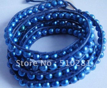 DISCOUNT SALE!!! Pretty   fashion women  BLUE PERAL BRACELET. Free Shipping