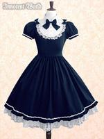 Princess lolita dress hot-selling sweet bow lace short-sleeve dress slim  party dresses lolita coat