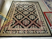 Quality handmade wool carpet black carpet black