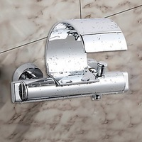 Wholesale 3Pcs Waterfall Spout With Taps Mixer Faucet Wall Mounted 4 Bath Tub  S-604