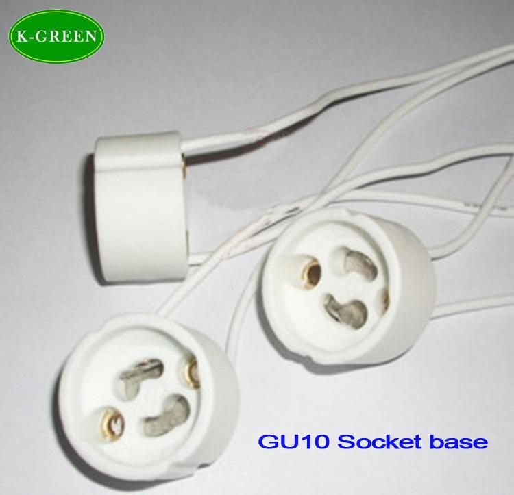 GU10 ceramic led holder socket free shipping(China (Mainland))