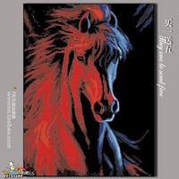 Diy digital oil painting by numbers coloring by numbers hand painted oil painting on canvas30 40 horse
