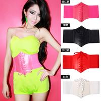 Fashion belt all-match ds costume accessories women's candy color strap ultra wide cummerbund  dancing dress