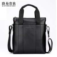 Male fashion handbag briefcase business casual shoulder bag exquisite classic removable shoulder strap messenger bag