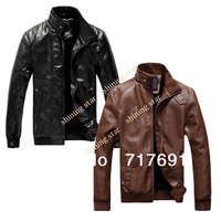Newest British Style Men's suit sheep leather jacket man autumn and winter Zipper Designed Mens slim leather coats 17391 sv16