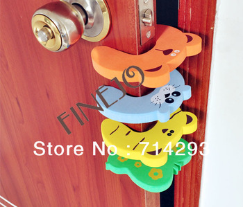 4 PCs Child kids Baby Animal Cartoon Jammers Stop Door stopper holder lock Safety Guard Finger Protect 716