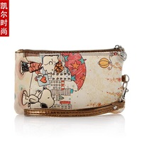 Free shipping Kehr fashion SNOOPY snoopy cartoon coin purse key wallet mobile phone bag