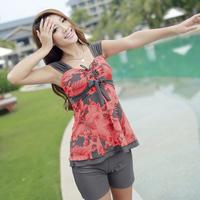 Sunseeker split swimsuit chuanwei poetry fashion long shorts plus size plus size female swimwear 3140