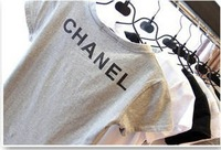 2013 European and American fashion must-wild cotton short-sleeved T-shirt bottoming simple letters