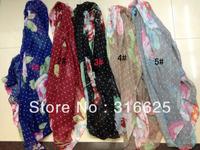 Wholesale Fashion ladies flower  Print  scarf