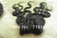Free shipping! Silk Base Lace Closure!3 WAY PART wavy virgin brazilian hair silk base top closure #1 #1b #2