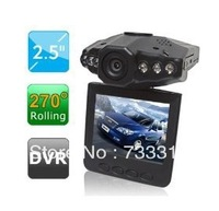 """High Quality 2.5"""" LCD Wide Angle 270 Degree Digital Vehicle Car DVR Camcorder With 6 LED IR Night Vision/Motion Detection"""