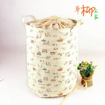 Zakka fluid fabric storage bag beam port laundry basket toy storage bucket storage box
